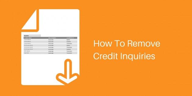 How to Remove Credit Inquiries HowtoFixMyCreditcom